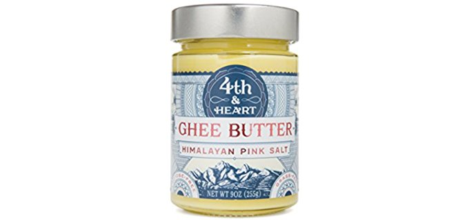 4th & Heart Organic Ghee Butter - Himalayan Salted Clarified Organic Butter