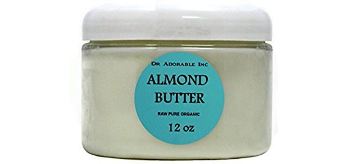 Dr Adorable Inc Organic Almond Butter - Raw Pure Vegan Organic Almond Butter