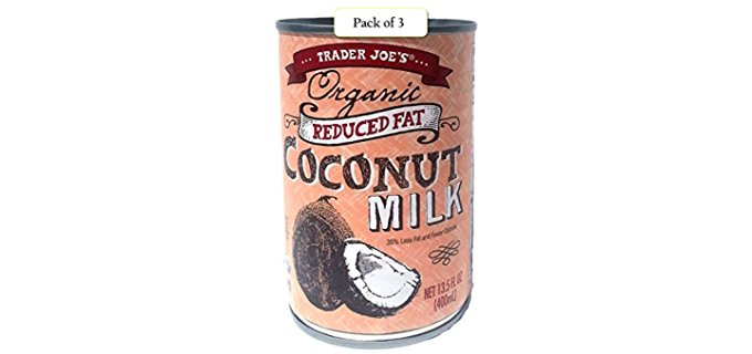 Trader Joe's Low Fat - Organic Coconut Milk Without preservatives