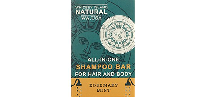 Whidbey Island Natural Solid - All-in-One Organic Shampoo Bar