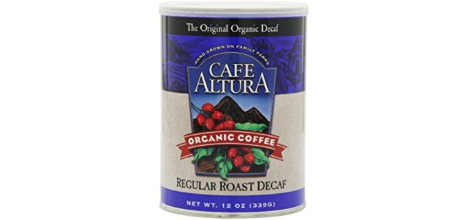 Café Altura Light Roast - Family Grown Organic Decaf Coffee