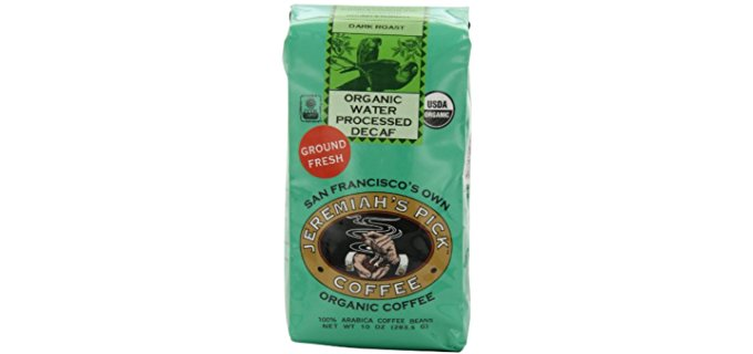 Jeremiah's Pick Coffee Co. Ebony-roast - Water Processed Organic Decaf Coffee