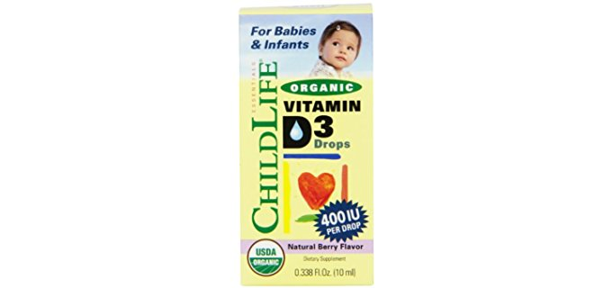 Child Life Organic Liquid D3 - Highly Assumable Form of Vitamin D3