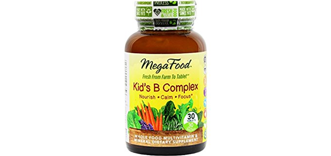 MegaFood Kiddies B Complex - All Natural Mineral-Vitamin B Complex