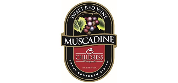 Childress Vineyards Sweet Organic Red - Sweet Organic Muscadine Red Wine