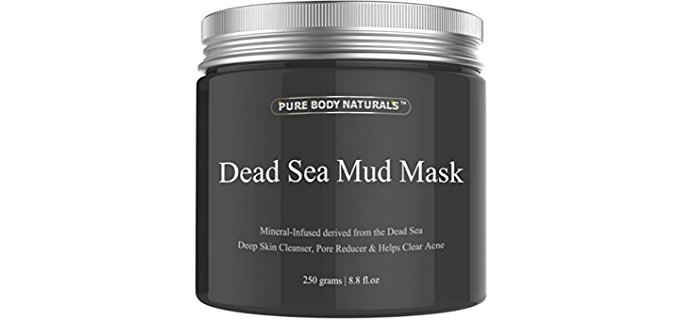 Pure Body Naturals Dead Sea Facial - Organic Face Mud from the Dead Sea
