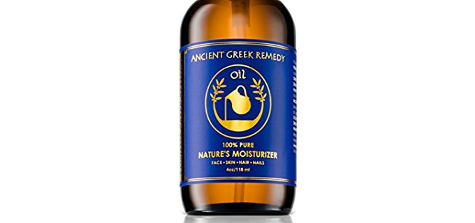 Ancient Greek Remedy Oil Organic Moisturizer - 100% Pure Blend of Anti Aging Skin Care Oils