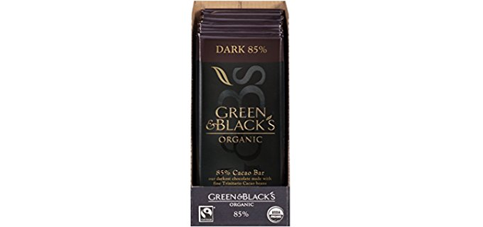 Green & Black's Organic Dark Chocolate - Organic Vanilla Infused Dark Chocolate
