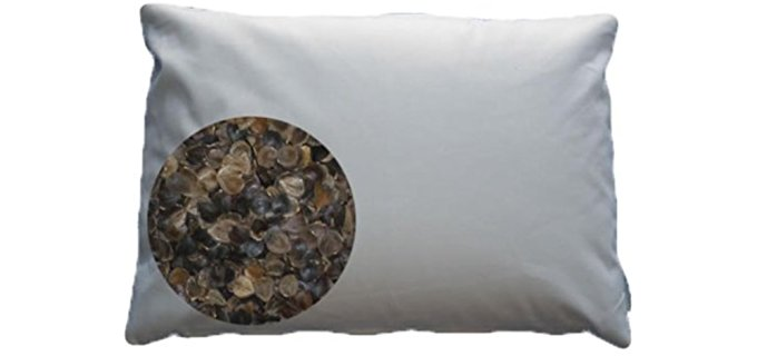 Beans72 Buckwheat Pillows Standard Pillow - Pure Organic Face Mapping Buckwheat Pillow