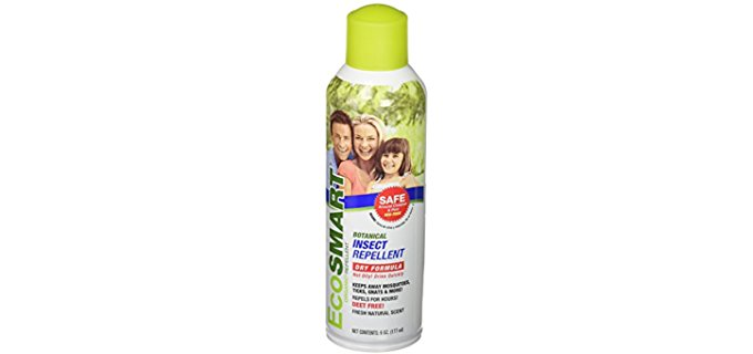 EcoSmart Dry Organic Bug Spray - Quick Drying Organic Bug Repellant Spray