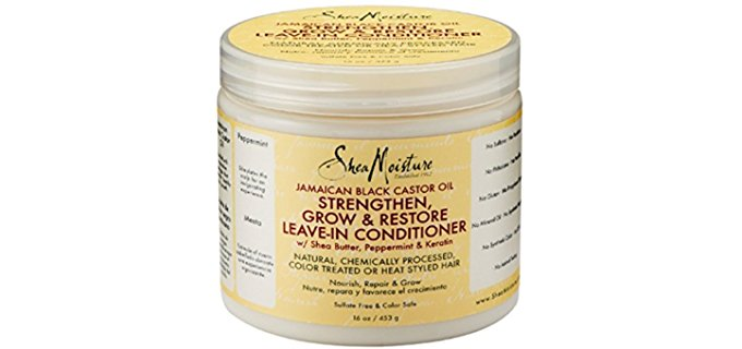 Shea Moisture Organic Jamaican Conditioner - Black Castor Oil Leave-In Conditioner