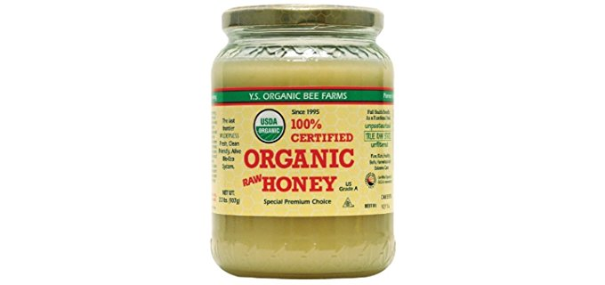 YS Organic Raw Organic Honey - USDA Certified Organic Raw Honey