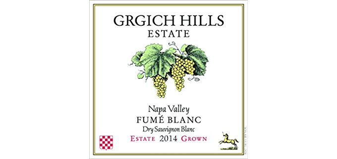 GRGICH Hills Estate Organic Dry Sauvignon Blanc - All Natural Citrusy Fume Blanc