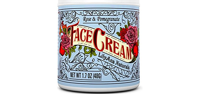 Lily Anna Naturals Naturally Enriched Face Moisturizer - Natural Rose & Pomegranate Face Cream