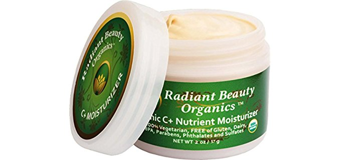 Radiant Beauty Organics Nutrient-Rich Face Moisturizer - Anti-Aging Vitamin C Organic Face Cream