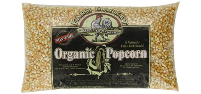 Great Northern Popcorn Company Organic Kernels - 100% Natural Organic Yellow Popcorn Kernels