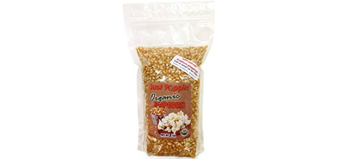 Just Poppin All Natural Popcorn - Entirely Organic Heirloom Popcorn Kernels