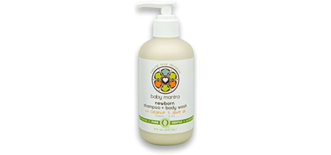 Baby Mantra Moisturising Organic Baby Wash - Coconut Olive Based Natural Baby Wash