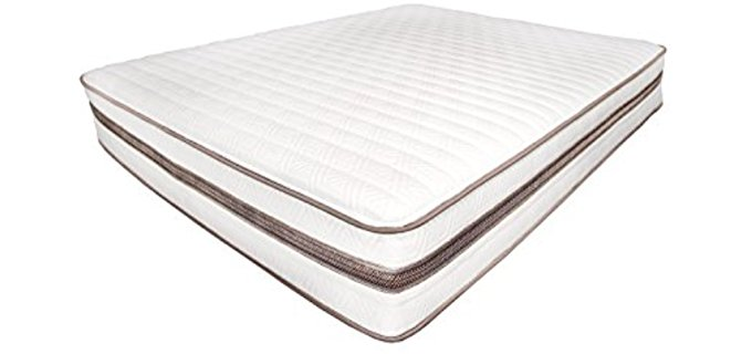My Green Mattress All Natural Eco Friendly Mattress - Organic Cotton Padded Wool Latex Mattress