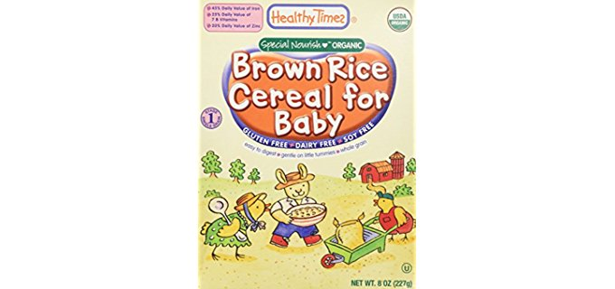 Healthy Times Extra Nutritious Brown Rice Cereal - Fortified Organic Brown Rice Baby Cereal