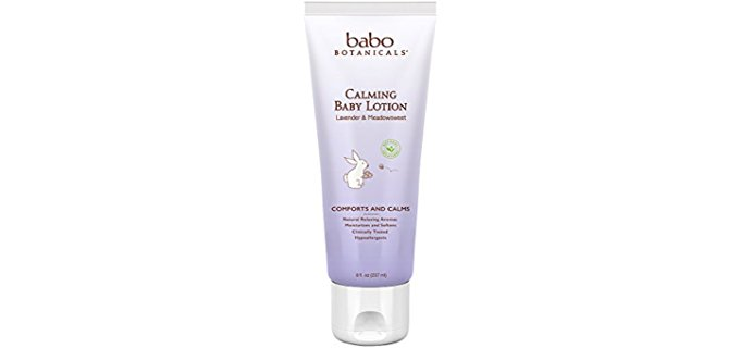 Babo Botanicals Chamomile Lavender Baby Lotion - All Organic Ultra Calming Baby Lotion