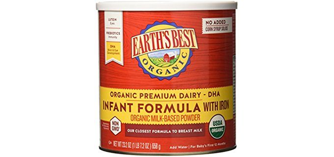 Earth's Best Organic Infant Formula - Breast Milk Equivalent Infant Formula