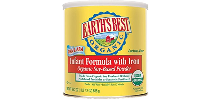 Earth's Best Organic Soy Formula - GMO-free Soy Derived Formula for Infants