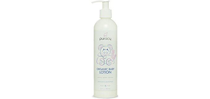Puracy Soothing Lavender Baby Lotion - Organic Lavender Grapefruit Baby Lotion