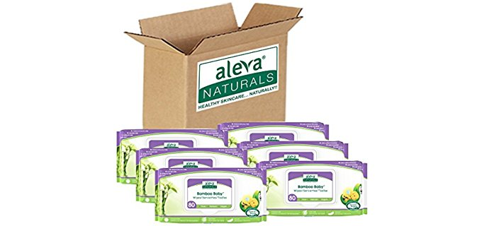 Aleva Naturals Bamboo Baby Wipes - Organic Baby Wipes with Antioxidant Protection