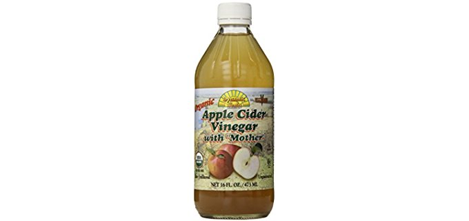 Dynamic Health 100% Pure Apple Cider Vinegar - Natural Mother Organic Apple Cider Vinegar