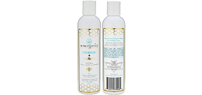 Era Organics Aloe Honey Face Wash - Organic Aloe Honey Acne-Free Face Wash