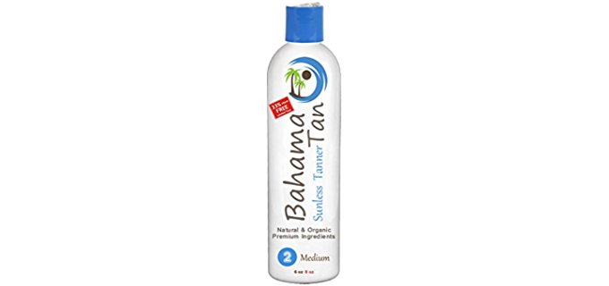 Bahama Tan Organically Derived Tanner - Organic Self Tanner for Flawless Tanning