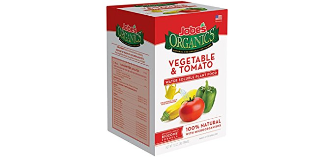 Jobes Organics Water-Based Fertilizer - Organic Water Soluble Vegetable Plant Fertilizer