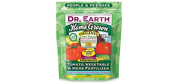 Dr. Earth Organic Vegetable Fertilizer - Soil Amending Organic Fertilizer for Vegetables