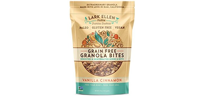 Lark Ellen Farm Grain-Free Cereal - Organic Dehydrated Raw Granola Breakfast Cereal