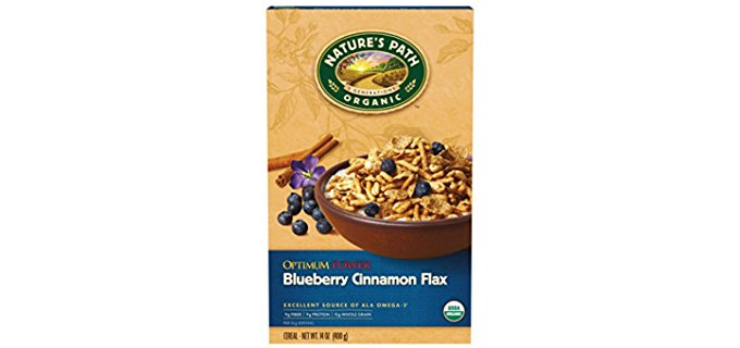 Nature's Path Power Breakfast Cereal - Oragnic Blueberry Flax Seed Flake Cereal