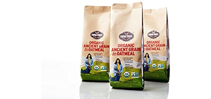 Farm to Table Ancient Grain Oatmeal - Delicious Organic GMO-Free Oatmeal Cereal