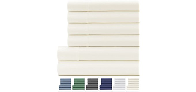Cifelli Home Organic Cotton Sheets - High Quality Organic Cotton 6pc Sheet Set