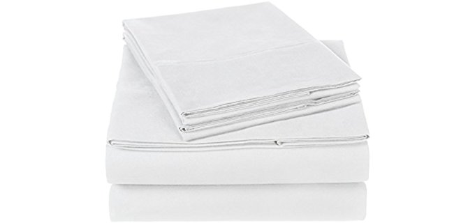 Pinzon Modern Cotton Sheets - Organic Cotton Sheet Set With Pillow Cases