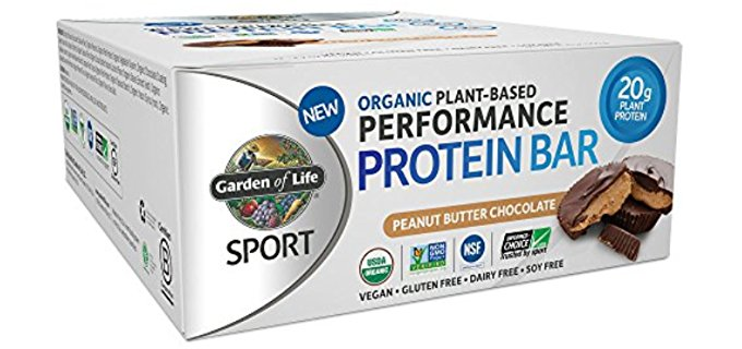 Garden of Life Power Bars - Sporty Organic Protein Bars for Max Energy