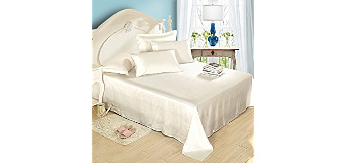 LilySilk Seamless Silk Bedding - 100% Organic Soft Silk Sheet Set