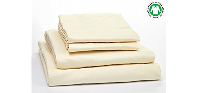 Organic Essentials Organic Cotton Sheets - Pack of 4 100% Organic Cotton Sheets