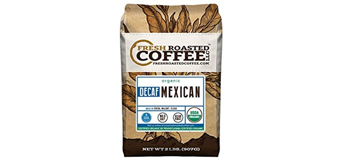 Fresh Roasted Coffee Mexican - Organic Swiss Water Decaf Coffee