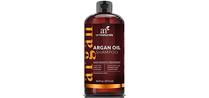 ArtNaturals Argan Shampoo - Organic Argan Hair Regrowth Shampoo