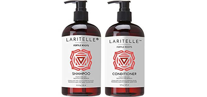 Laritelle Hair Renewal Pack - Organic Shampoo & Conditioner Anti-Hair Loss Pack