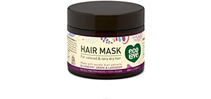 Eco Love Vegan - Organic Hair Mask for Colored Dry Hair