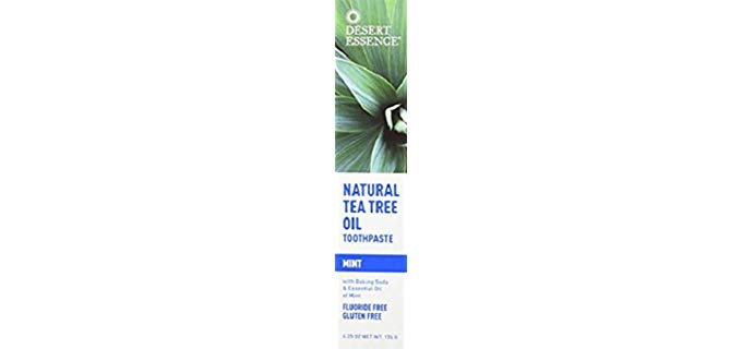 Desert Essence Natural - Organic Tea Tree Oil Toothpaste