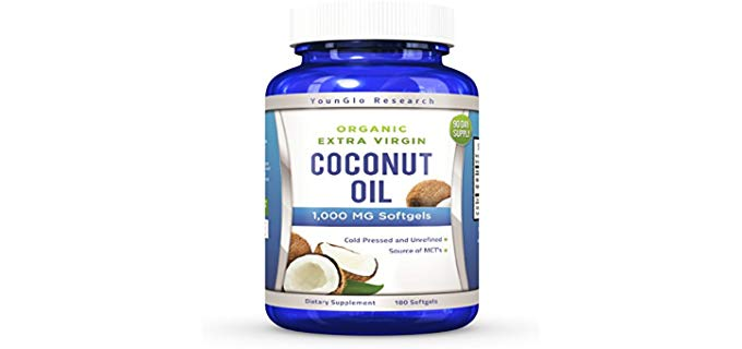 YounGlo Research Extra Virgin - Coconut Oil Capsules