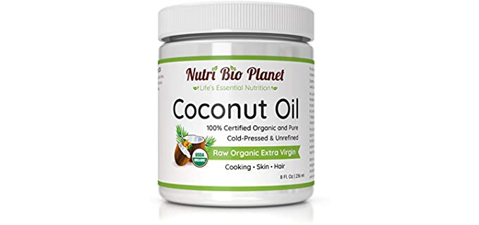 NutriBioPlanet Organic - Cold pressed Coconut Oil