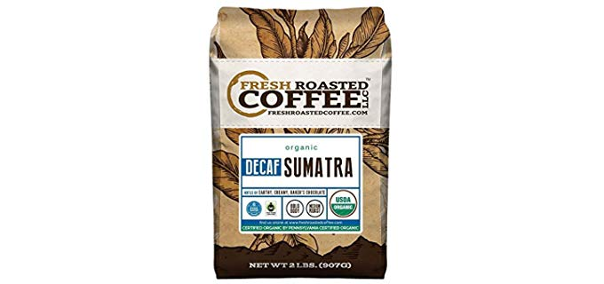 Fresh Roasted Coffee Sumatra SWP Decaf - Organic Swiss Water Decaf Coffee
